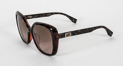 9aa6bab6d61 NEW FENDI AUTHENTIC Havana Yellow FF 0013 F S 7TAR4 55mm Sunglasses ...