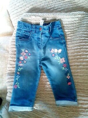 Baby Girls Jeans From Tu 9-12m Bnwot