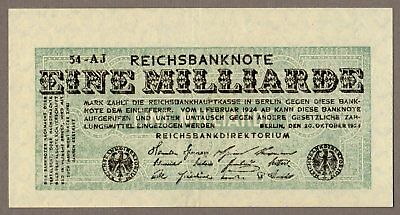 1 Milliarde Mark von 1923 AU