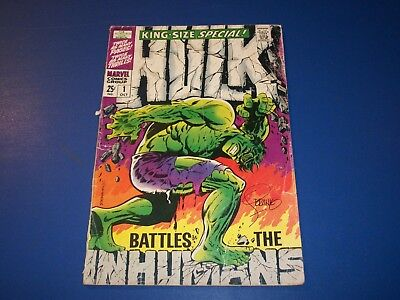 Incredible Hulk Annual #1 Silver Age Signed by Steranko  Wow Inhumans