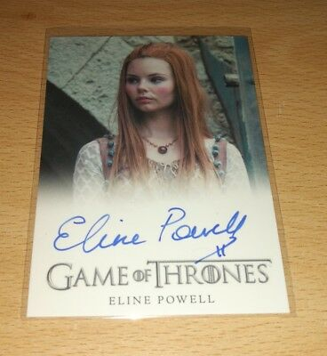 Game of Thrones Season 7: Eline Powell as 'Bianca' Autograph Card.