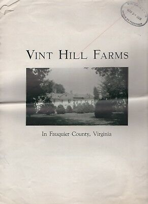 Vintage Sales Brochure Vint Hill Farms Virginia