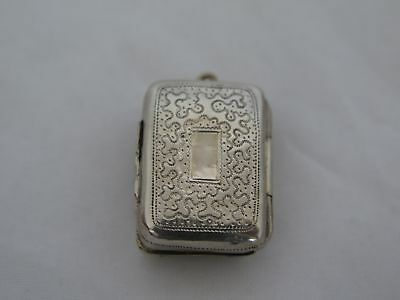 1821 Birmingham England Sterling Silver Small Vinaigrette for a Chatelaine