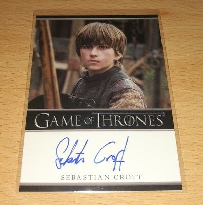Game of Thrones Season 7: Sebastian Croft as 'Young Ned Stark' Autograph Card