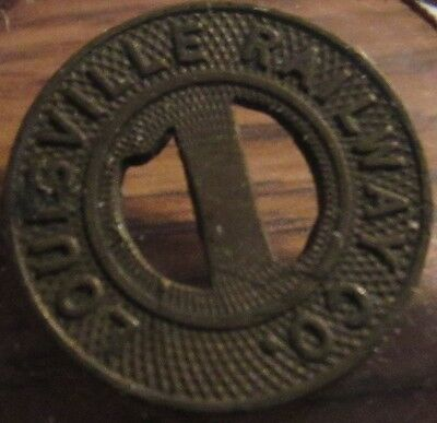 Very Old Louisville, KY Railway Co. Transit Trolley Token - Kentucky Brass