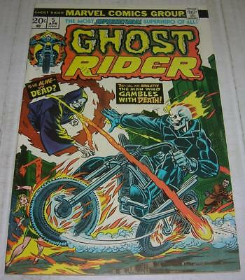 GHOST RIDER #5 (Marvel Comics 1974) 1st appearance ROULETTE (FN+) Gil Kane cover