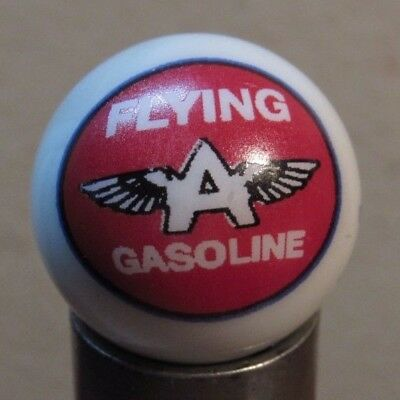 Flying A Gasoline 1-Inch Glass Advertising Marble - Gas Fuel Oil