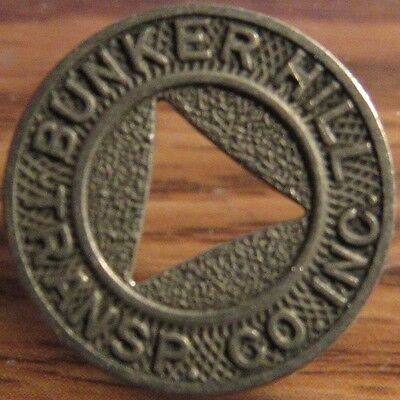 Very Old Bunker Hill Transp. Co. Inc. Waterbury, CT Transit Token - Connecticut