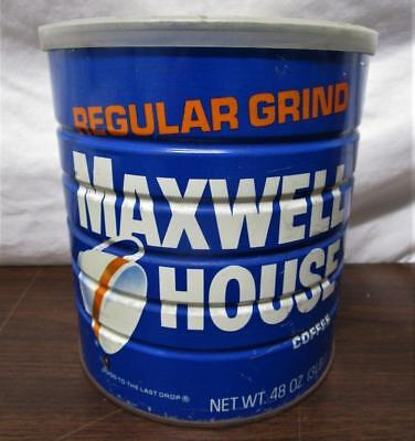 Vintage Nos Maxwell House Coffee 3 Pound Can W/ Plastic Lid Sealed Unopened
