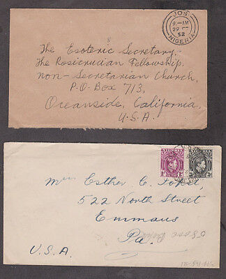 Nigeria - 1940's/52 Three covers with Gibbons #52A, 53B & 58B stamps