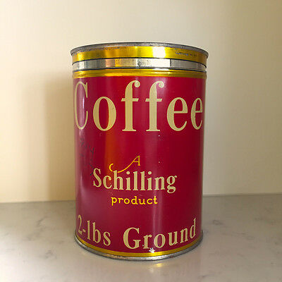 Schilling Coffee 1933 2 Lb Tin Wings of the Morning Perc Blend San Francisco