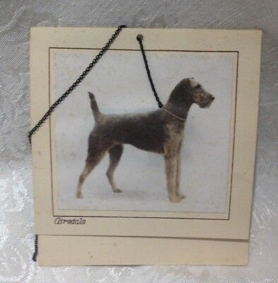 Vintage Tally with Airedale Terrier - Actual Photo