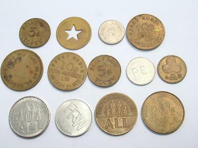 Collection Of Early Fruit Machine / Gaming Tokens - Lot 78