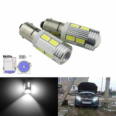 BAX9s H6W 434 433 Canbus LED Car Bayonet Bulb Side Indicator Reverse Light White