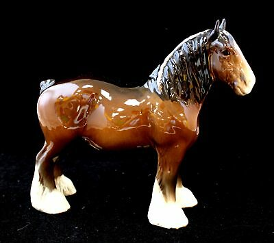 Vintage BESWICK POTTERY Decorative 'Shire Horse' Ornament / UNBOXED - W28