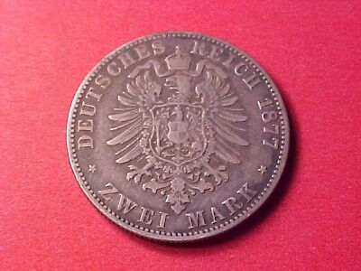 German States Prussia 2 Marks Silver 1877-A