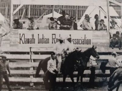 Native American KLAMATH INDIAN TRIBE RODEO 1950s UNSEEN PRINTS 8x10 CLOWN horse