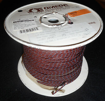Type T Thermocouple Grade Solid Wire * 20 AWG w/fiberglass Insulatio * 900'+
