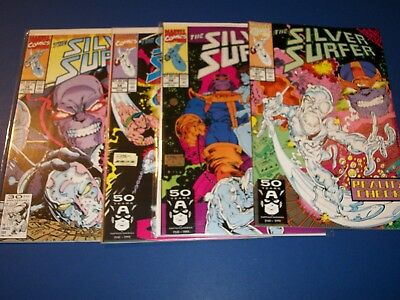 Silver Surfer #56,57,58,59 run of 4 Infinity Thanos