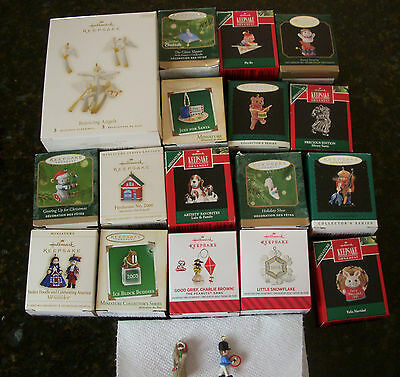 Lot group collection ~ Hallmark Miniature Ornaments ~ no duplicates