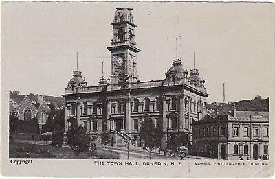 Nz Dunedin Town Hall Postcard