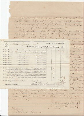 African-American 1877 Sharecropper Document Signed, Pittsylvania Co VA