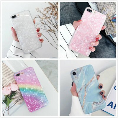 Bling Cute Glitter Case Sparkle Shell Pattern Phone Covers For iPhone X 7 8 Plus
