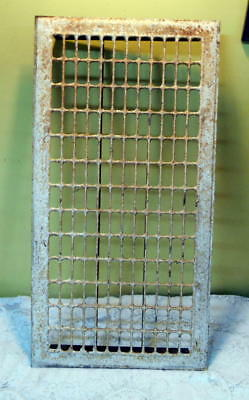 "Vintage Iron/Metal Floor Grate 28 1/4"" X 14 1/2"" Steampunk"