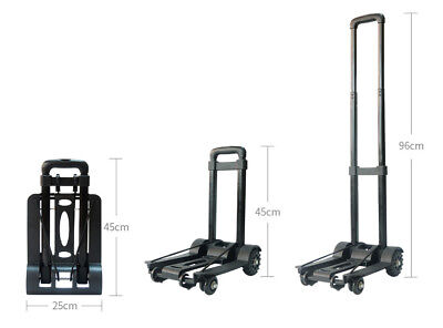 A37 Rugged Aluminium Luggage Trolley Hand Truck Folding Foldable Shopping Cart