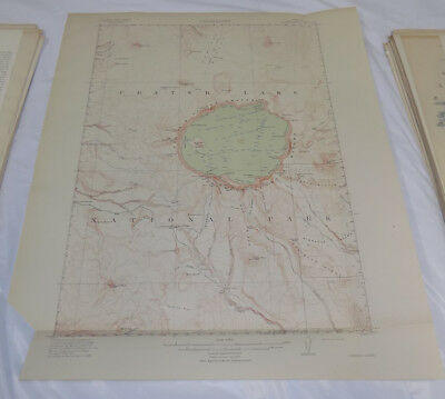 1911 Topographic Map of CRATER LAKE QUADRANGLE, KLAMATH COUNTY, OREGON