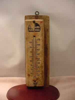 Standard Oil Company Fuel Oils Antique Thermometer