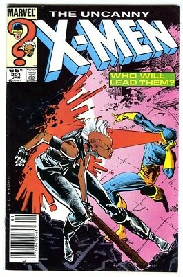Uncanny X-Men #201 (1986) Fine 1st appearance Nathan Summers Cable