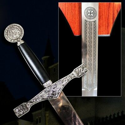 King Arthur Excalibur Medieval Sword Wall Hanging New (B-A1)