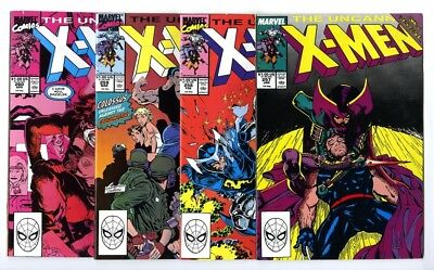 Uncanny X-Men #257,258,259,260 Avg NM- to NM Marvel Comics