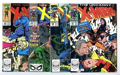 Uncanny X-Men #261,262,263,264 Avg NM Marvel Comics