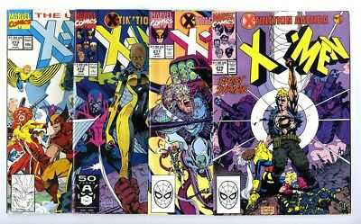 Uncanny X-Men #270,271,272,273 Avg NM Marvel Comics