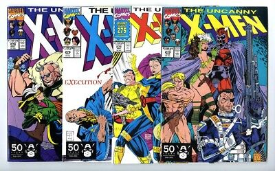 Uncanny X-Men #274,275,276,278 Avg NM Marvel Comics
