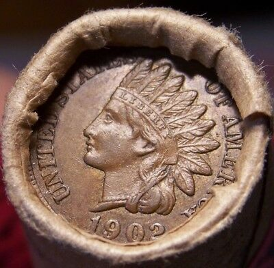 1858 Fl Eagle/1902 Indian End Coins Of Mixed Antique Old Roll Pictured #9233