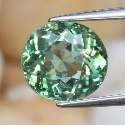 3.20ct 9.4x8.8mm Oval Natural Unheated Green Apatite, Brazil