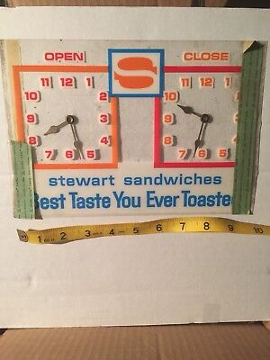 Stewart Sandwiches Old Vintage Open Closed Bar Restaurant Tavern Sign RARE