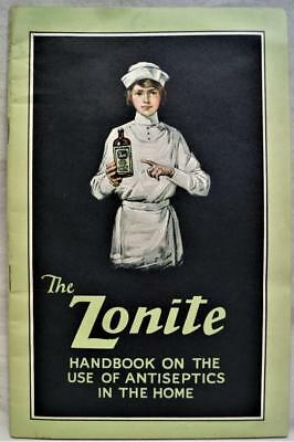 Zonite Antiseptic First Aid Advertising Instructions Brochure Guide 1923 Vintage