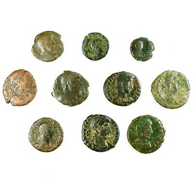 Ten (10) Nicer Ancient Roman Coins c. 100 - 375 A.D. Exact Lot Shown rm2938