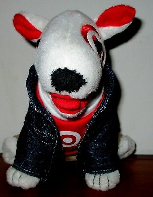 Target Bullseye Dog Plush  Denim Jacket Dog 2009 Edition One