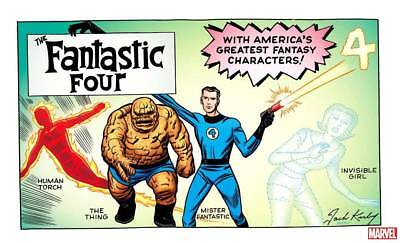 Fantastic Four #1 Jack Kirby Hidden Gem Variant Vf-Nm Presale 8 /08/ 2018