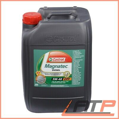 Canister Of 20 Litres Castrol Magnatec Diesel 5W-40 Dpf Engine Oil