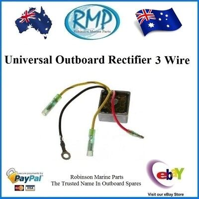 1 x New Universal 3 Wire Rectifier Evinrude Mercury Johnson Suzuki