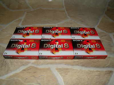 1 x Sony Digital 8 Kassette N8-90P2 LP 135 / SP 90  NEU / OVP