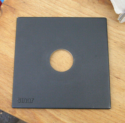 genuine Sinar F & P  lens board panel with copal compur 0 hole  34.5mm