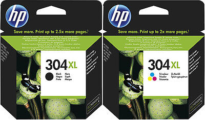 2x ORIGINAL HP 304 XL TINTE PATRONEN ENVY 5020 5030 5032 5034 Deskjet 3735 Set