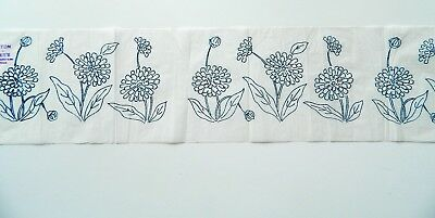 Marigold Flower Border ~ Vintage Embroidery Transfer Sewing Pattern 62